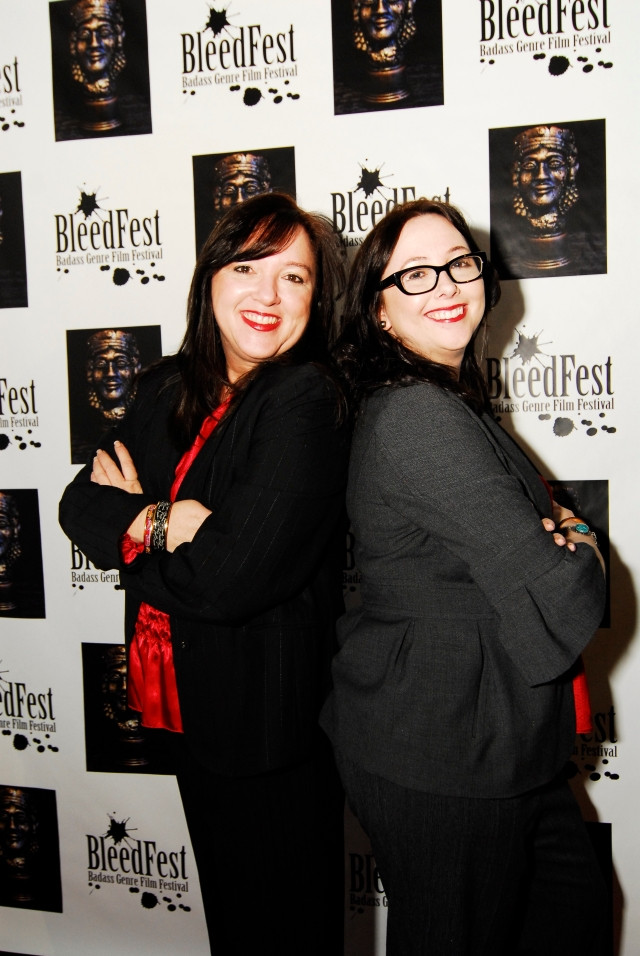 Brenda Fies and Lis Fies, co-founders and sisters, BleedFest December 2010
