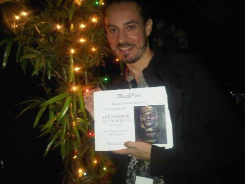 Dave Reda wins the BleedFest Partnership Award