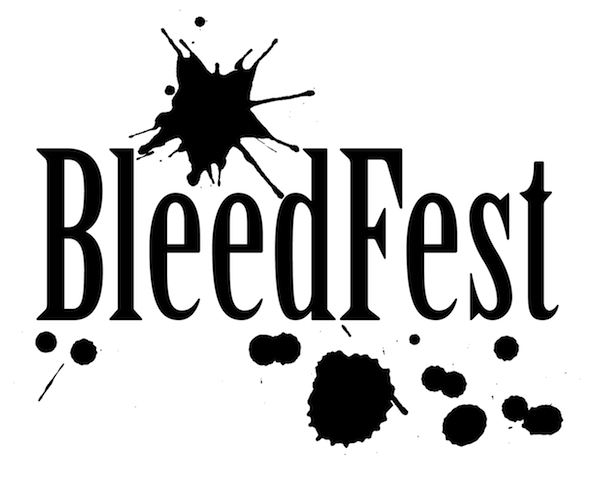 BleedFest Black on White logo