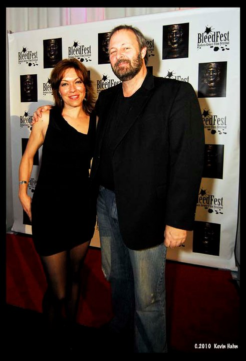 VIP Guests Michelle Tomlinson and Kevin Tenney at December 2010 BleedFest